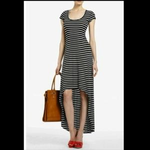 BCBG Max Azria Donesa Navy White Stripe Dress